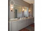<p>Painted Master Bath, Panels Surround Mirrors</p>