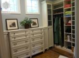 <p>Custom White Melamine Closet System</p>