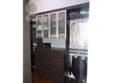 <p>Melamine Wood with Frosted Aluminum Doors</p>