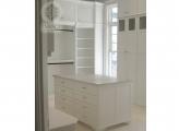 <p>Luxury White Closet, Built Lo' High</p>