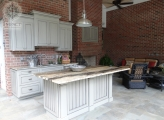 <p>Outdoor Cabinetry Painted on Site</p>