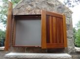<p>Cedar T.V. Cabinet  & PVC (Open)</p>
