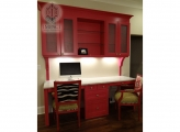 <p> Pink Girl's Desk with Textured Door Inserts</p>